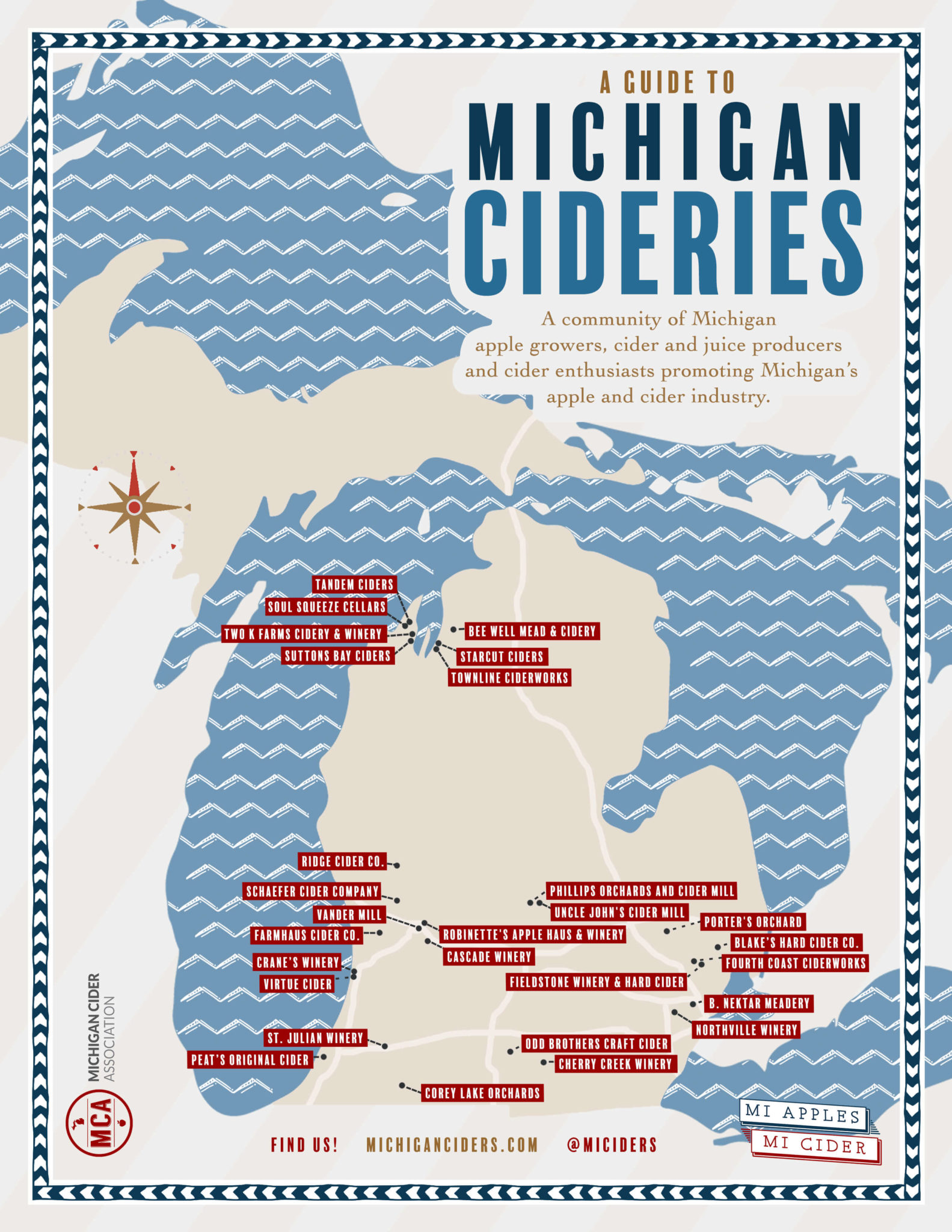 map of cider locations